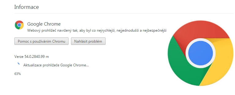 Aktualizujte si Google Chrome