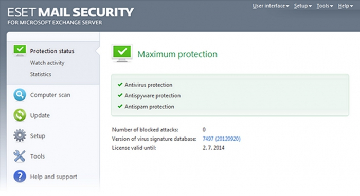 Eset Mail Security 6 pro Microsoft Exchange