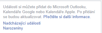 Export dat narozenin z Facebooku do Outlooku