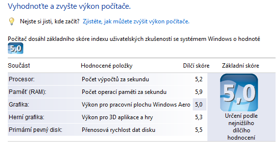 Tip: Spusťte benchmark ze starých Windows