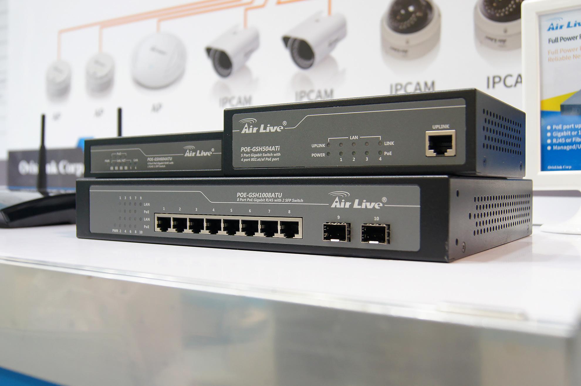 Ukázka chytrých gigabitových přepínčů AirLive.