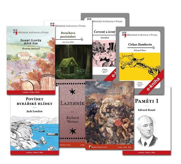 Díla klasiků české i světové literatury, jako jsou např. bratři Čapkové, Jaroslav Hašek, Karel Poláček, Jack London, Arthur Conan Doyle nebo Jules Verne. E-knihy jsou ve formátech vhodných pro všechny typy čteček elektronických knih.