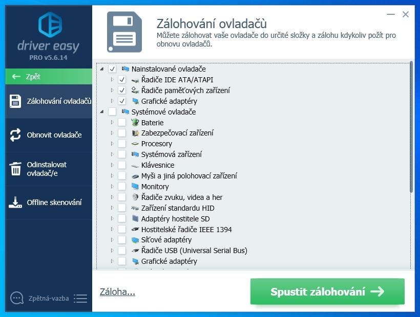 Driver Easy má kromě stahování a instalace aktuálních ovladačů hardwaru i další funkce, které najdete v nabídce »Nástroje«. Důležitá je především funkce »Zálohování ovladačů«, která umí do jediného archívu uložit všechny, nebo jen vybrané, ovladače, aktuálně instalované ve vašem počítači.