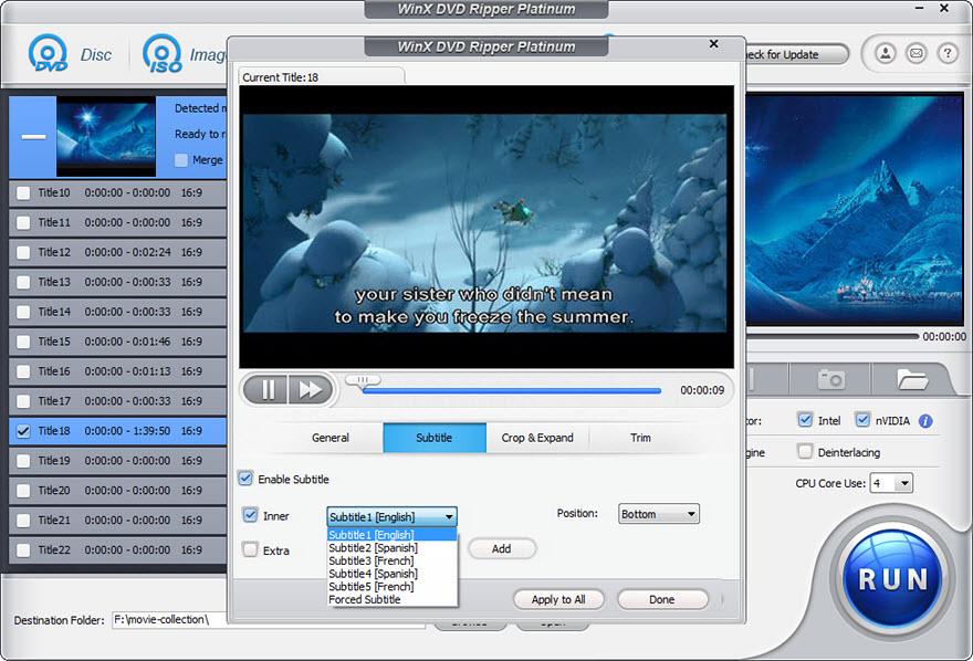 Kliknutím na tlačítko »Edit« vedle popisu titulu otevřete okno s možnostmi úprav videa během konverze. S nástrojem »Trim« lze oříznout začátek a konec filmu a nástroj »Crop & Expand« slouží k oříznutí obrazu. Můžete se tedy snadno zbavit černých pruhů kolem videa a navíc třeba i odstřihnout zbytečné úvodní a závěrečné titulky.