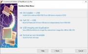 Abyste mohli začít používat funkce programu FlashBoot, musíte mít ke svému počítači připojen USB flash disk nebo externí pevný disk, se kterým bude aplikace následně pracovat. Hlavní funkce programu jsou ve výchozím okně rozděleny do čtyř okruhů.