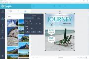 Vytvoření vlastního grafického designu znamená výběr konkrétní šablony dle tématu, vložení vlastních fotek a obrázků a doplnění textů nebo dalších grafických prvků (klipartů). Také můžete libovolně upravovat grafické prvky, které již šablona obsahuje.