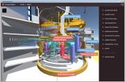 3D model je velmi efektní prostředek při seznamování se s jednotlivými segmenty elektrárny. Neméně zajímavý a názorný pohled nabízí také použití připravených filtrů, které povoluje ikona trychtýře. Aktivací či deaktivací jednotlivých filtrů měníte zobrazené části zařízení. Můžete tak vidět i to, co ve skutečnosti nikdo ani v reálné situaci vidět nemůže.