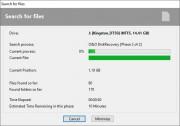 Program provádí opravdu důkladnou analýzu vybraného média a celý proces vyhledávaní smazaných dat tak může v závislosti na velikosti prohledávaného disku zabrat i několik desítek minut. Prohledání 1 GB prostoru na disku zabere programu necelou minutu.