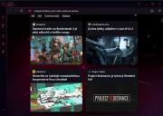 Opera GX po startu nabídne novinky a informační kanály z herního světa.