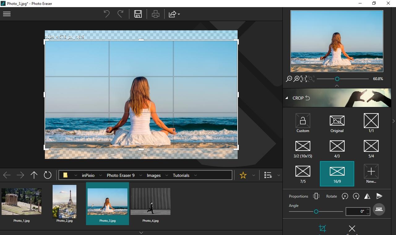 Po vyretušování snímků můžete použít také další funkce, určené na otáčení a převracení snímků, změnu jejich velikosti nebo úpravu poměru stran výsledné fotografie. Snímky také můžete volně ořezávat nebo si nastavit vlastní šablonu pro poměr stran.