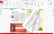 Běžné způsoby zobrazení obsahu PDF dokumentů doplňuje zajímavý 3D režim (aktivujete jej tlačítkem »3D View« na kartě »View«), ve kterém můžete efektně otáčet stránky dokumentů. Tato funkce má největší kouzlo ve spojení s celoobrazovkovým zobrazením PDF dokumentů a dotykovým ovládáním počítače.