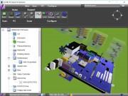 Pro vytvoření 3D modelu obsahu vašeho počítače v programu Syvir PC Build použijte tlačítko »Build«. Aplikace získá informace o hardwaru z více než tří desítek senzorů a vymodeluje základní desku osazenou příslušnými komponenty.
