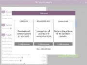 Při prvním spuštění aplikace Win10PrivacyFix se zobrazí okno s výběrem ze tří režimů automatického nastavení. Možnost »Cloak Mode« zastaví veškerou datovou komunikaci z Windows 10 směrem k Microsoftu. Předvolba »Recommended Mode« představuje mix mezi soukromím a komfortem a »Windows Default« vrátí výchozí nastavení operačního systému.