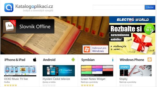 Katalog mobilních aplikací