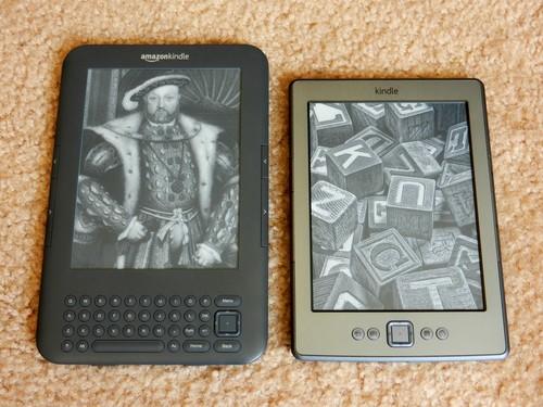 Klasický a nový Kindle