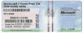COA štítek: certifikát pravosti softwaru