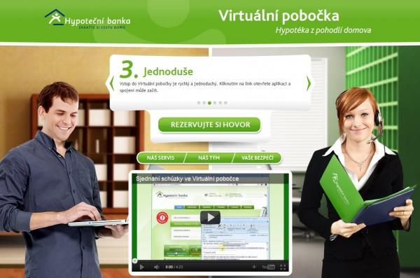 Obsluhu virtuální pobočky HB na webu určitě zvládne skoro každý.