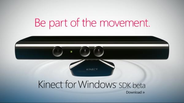Vývojářské rozhraní Kinect SDK for Windows je zatím k dispozici v betaverzi.