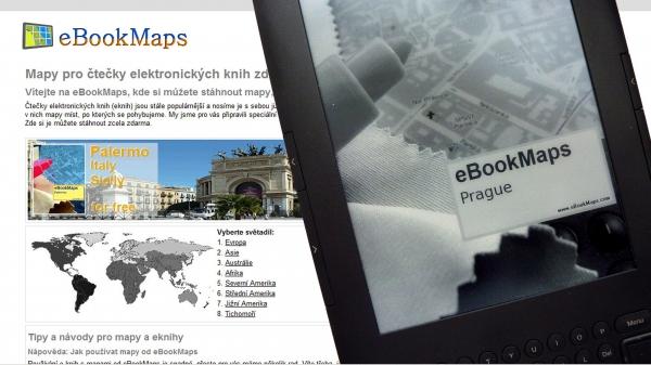 Na novém webu eBookMaps najdete mapy pro čtečky e-knih.