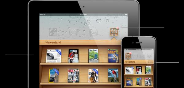 Aplikace Newsstand - nový způsob kupování a organizování předplatného novin a časopisů.