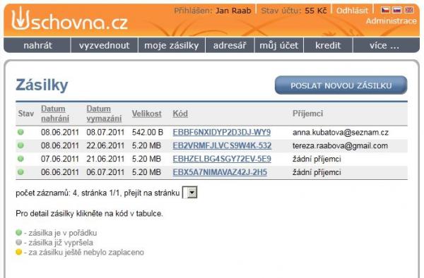 Úschovna.cz s novými funkcemi