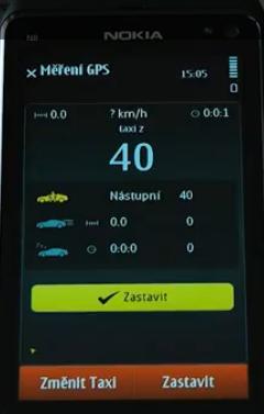 Taxametr TAXIcheck v mobilu - ukázka v praxi.