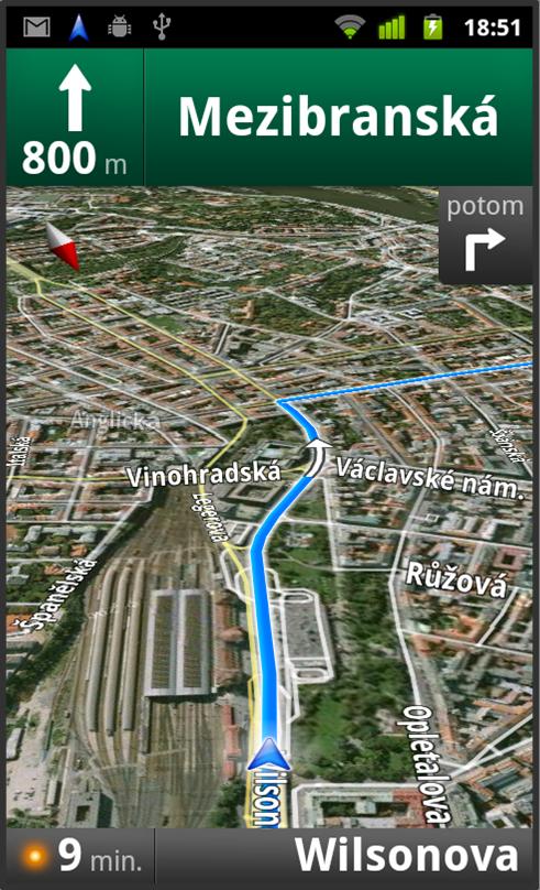 Google Mapy: Satelitní pohled