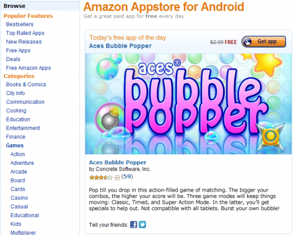 Amazon Appstore pro Android