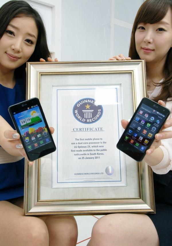 LG Optimus 2X v Guinnessově knize rekordů