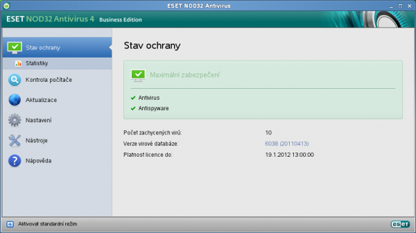 ESET NOD32 Antivirus 4: Antivir už i pro pro linux...
