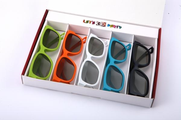 Pasivní polarizační 3D brýle jsou mnohem lehčí a nemusí se nabíjet