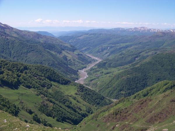 Údolí řeky Ksani ve východní Gruzii
