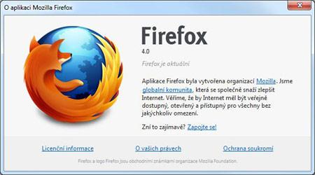 Firefox 4 už je - neoficiálně, ale v konečné verzi!