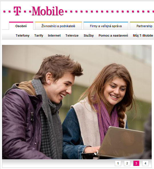 T-mobile podporuje mobilní platby...