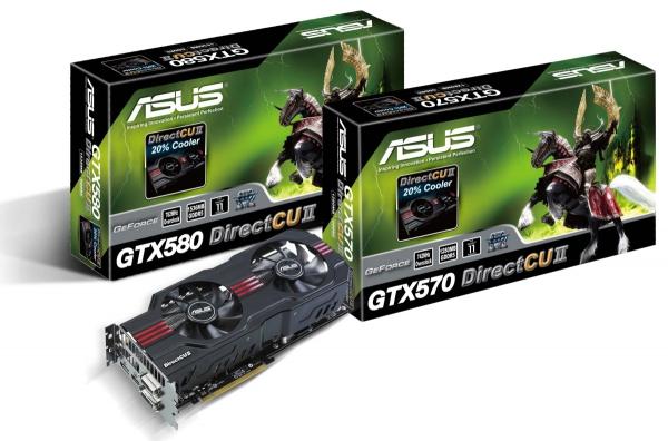 Asus GTX 570 a 580