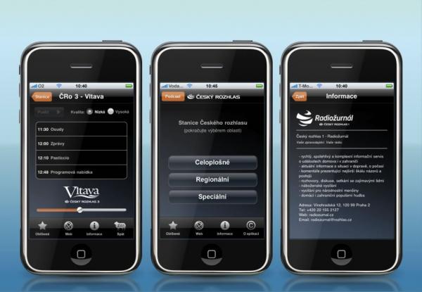Český rozhlas na iPhonech