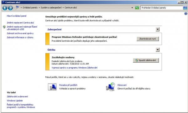 Bezpečněji: Většina bezpečnostního softwaru už umí spolupracovat přímo s Windows.