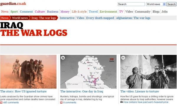 Úvodní stránka speciálu na guardian.co.uk