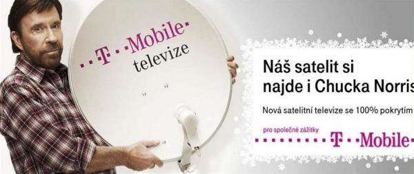 T-Mobile rozbrečel Chucka Norrise, aneb satelitní televize od T-Mobile