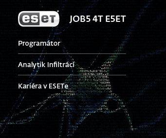 Vyřešte problém  a staňte se zaměstnancem Esetu.