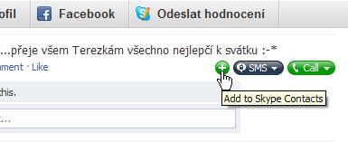 Skype přidá k příspěvkům tlačítka.