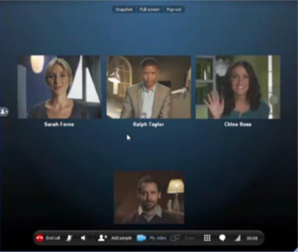 Videohovor přes Skype