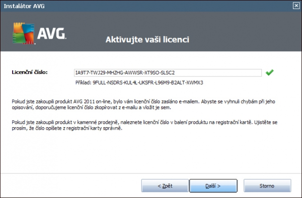 AVG IS 2011 - Licence