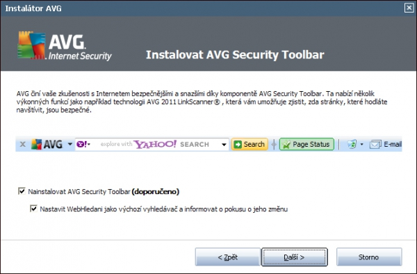 AVG IS 2011 - AVG Security Toolbar