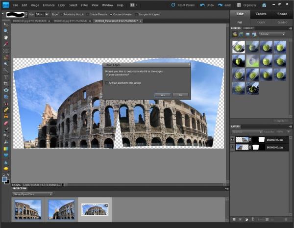 Photoshop Elements 9 - snadnější tvorba panoramat z více snímků. Chybějící části program sám dodělá.