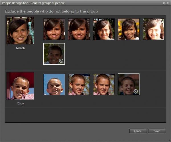 Photoshop Elements 9 - rozpoznávání obličejů