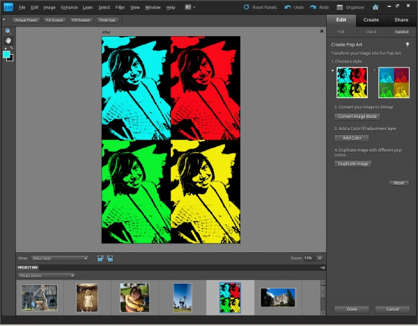 Photoshop Elements 9 - efekt Pop Art