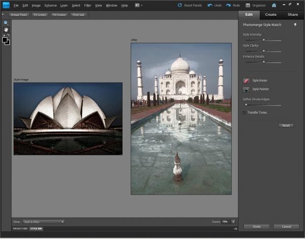 Photoshop Elements 9 - stačí vybrat fotografii a do stejného stylu se předělá i požadovaný snímek.