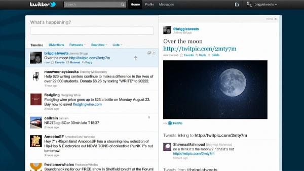 Nový web Twitteru — sdílení obrázku