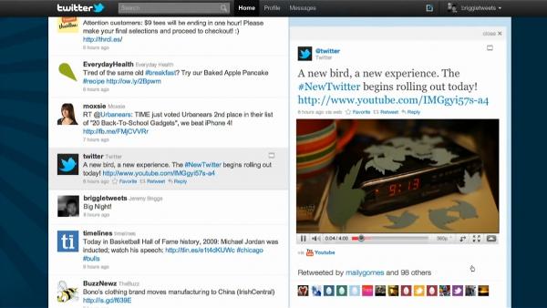 Nový web Twitteru — sdílení videa